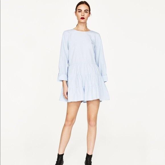 8553d0ba Zara Frilled Jumpsuit in Blue. M_5aa5eb74a6e3ea0da3e33c52